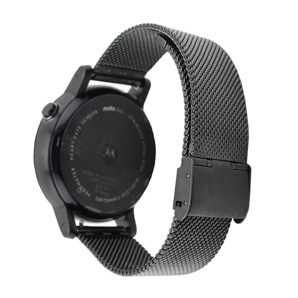 Dokpav® Banda Pulsera Correa de Reloj Inteligente Smartwatch para MOTO 360 II- Negro, 20mm