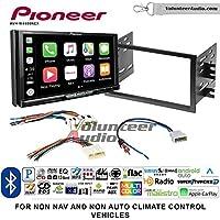 Volunteer Audio Pioneer AVH-W4400NEX Double Din Radio Install Kit with Wireless Apple CarPlay, Android Auto, Bluetooth Fits 2008-2012 Nissan Titan (Manual A/C controls)