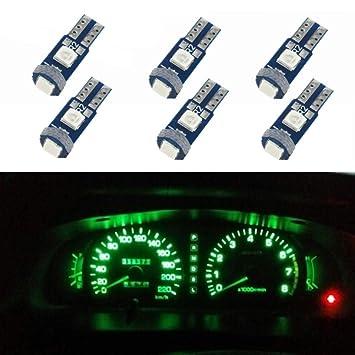 WLJH T5 Canbus Libre De Errores Coche instrumento salpicadero luces LED bombilla de repuesto 74 2721