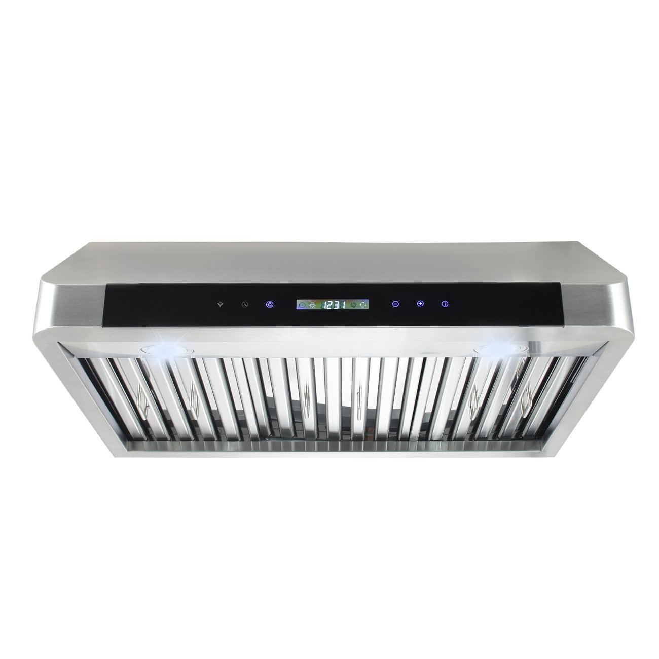 DELLA 30 Under Cabinet Stainless Steel 3 Speeds Touch Control Panel Range Hood Home Kitchen Vent LED Screen Stove