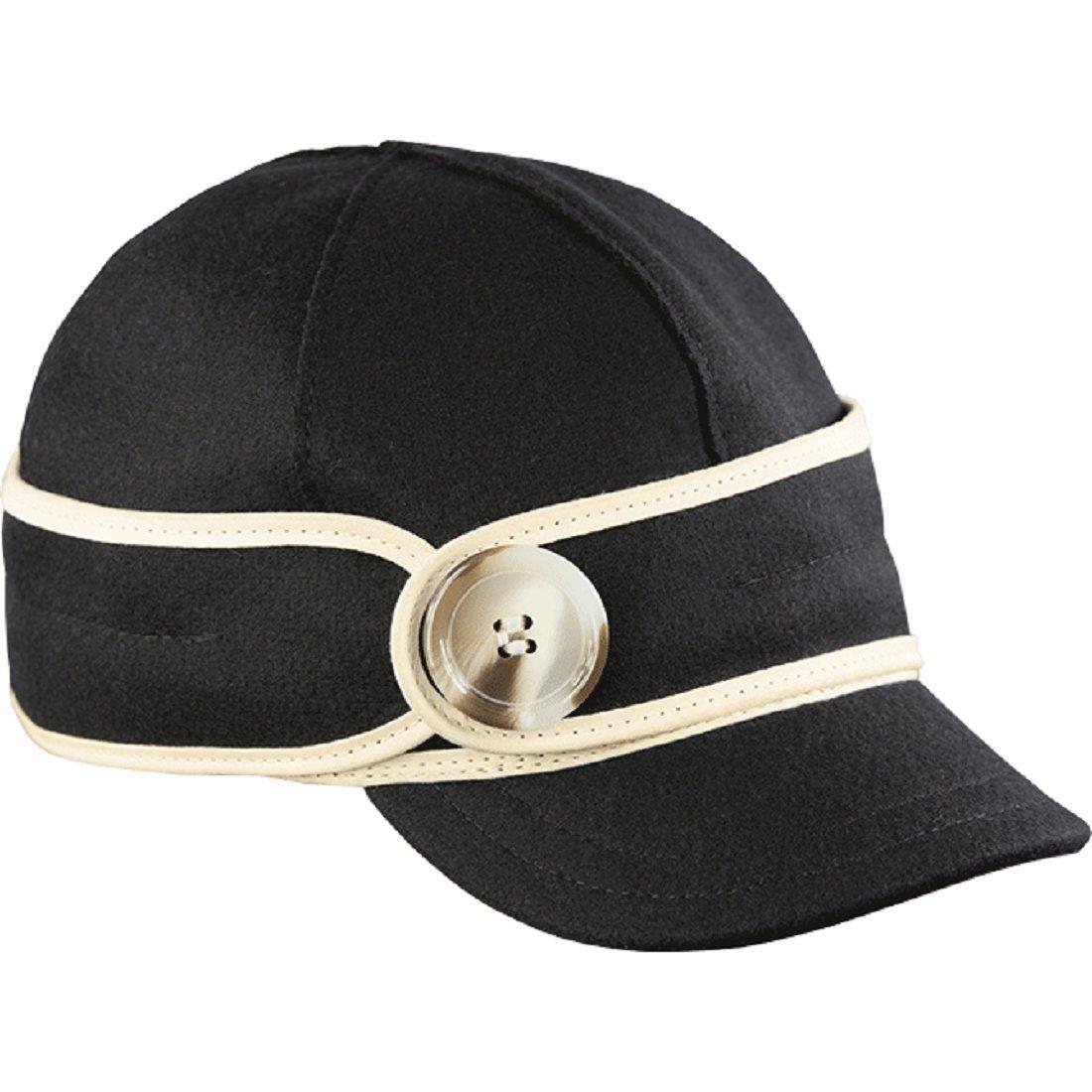Stormy Kromer Wo Button Up Cap Black/Red Tartan 7 1/2 by Stormy Kromer