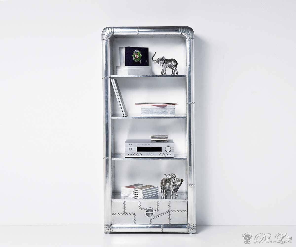 Kare Design Regal Soho mit 1 Schublade Aluminium