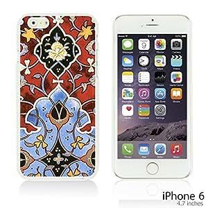 OnlineBestDigitalTM - Flower Pattern Hardback Case for Apple iPhone 6 (4.7 inch)Smartphone - Persian Pattern