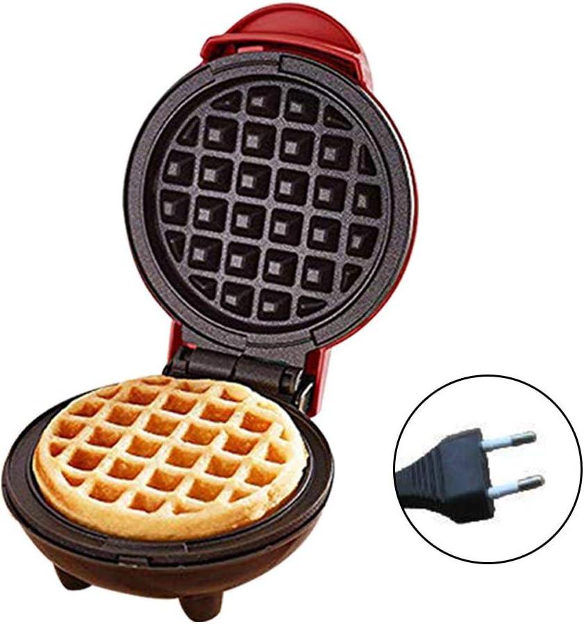 Biscotti Uova e Altri in Viaggio Colazione Brownrolly Mini Macchina per Waffle per Uso Domestico con Piastra Rotonda elettrica Portatile da 350 W con indicatore Luminoso per Pancake Pranzo e Snack