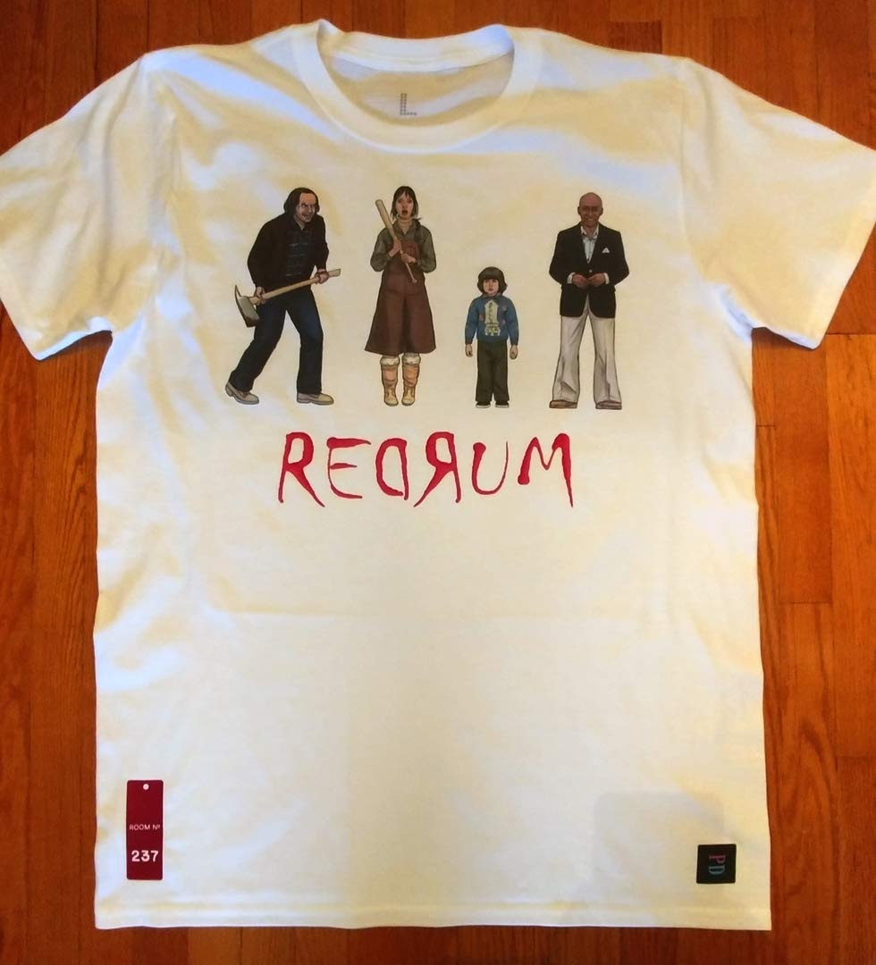 The Shining inspired character tees - REDRUM - 80s theme