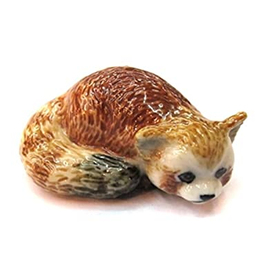 ChangThai Design 3 D Ceramic Toy Red Panda No.3 Dollhouse Miniatures: Toys & Games