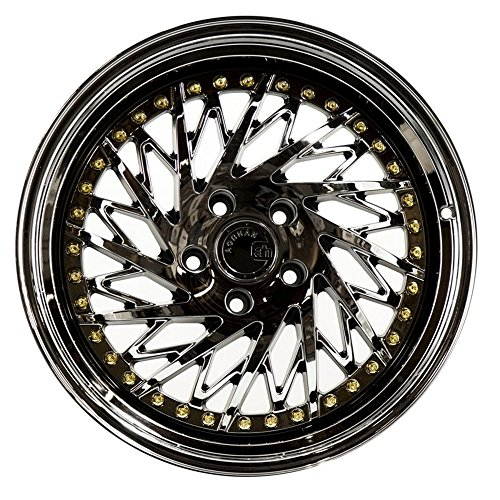 (Aodhan Wheels DS03 18x9.5; 5x114.3; 73.1; 30; (Passanger Side Black Vacuum w/Gold Rivets))