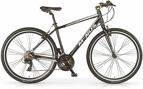 Bicicleta híbrida MBM Minus para hombres, cuadro de aluminio, 21 ...