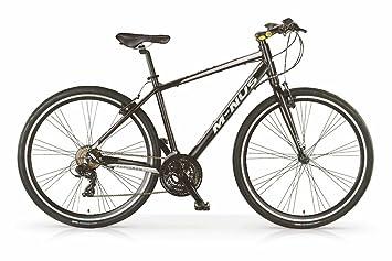"""Bicicleta híbrida MBM Minus para hombres, cuadro de aluminio, 21 velocidades, ruedas 28"""""""