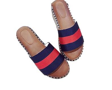 2907d2efbb1f Women s Summer Fashion Creative High Heel Flip Flops Beach Sandals Wedge  Platform Thongs Slippers(Blue
