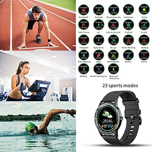 WAFA Smart Watch Fitness Tracker with Heart Rate Blood Pressure SpO2 Monitor IP68 Waterproof Sport Watch Calories Sleep Tracker Pedometer for Men Women Smartwatch Compatible with iPhone Android Phones 3