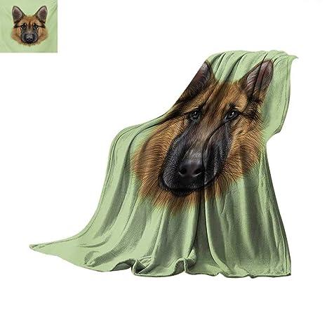 Amazon Com German Shepherd Weave Pattern Blanket Pastel Toned