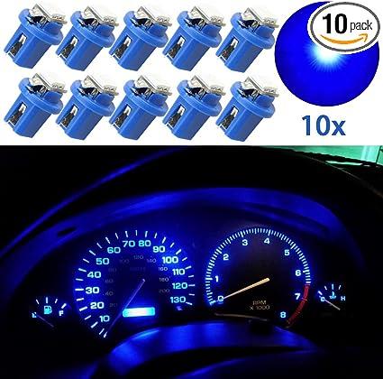 10Pcs T5 B8.5D 5050 1SMD LED Dashboard Dash Gauge Instrument Light Bulbs New