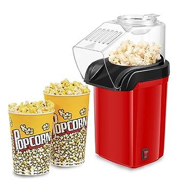 Máquina de palomitas, xiiyu 1200 W Popcorn Maker de aire caliente para la casa,