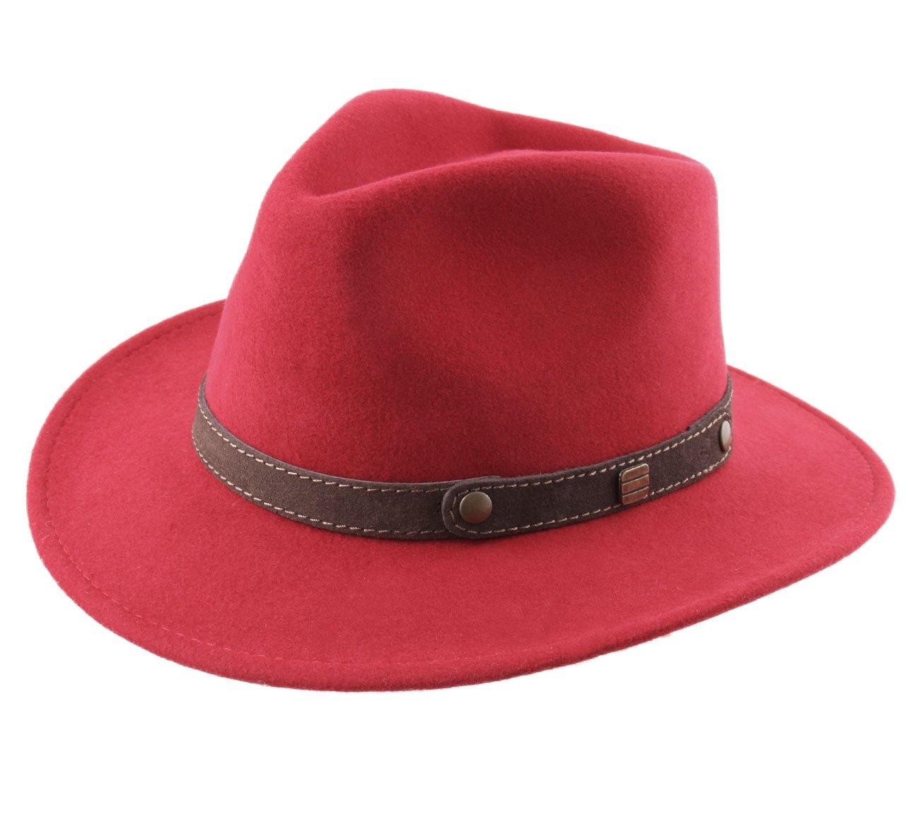 Classic Italy Men's Traveller II Wool Felt Fedora Hat