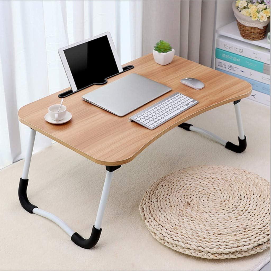 Amazon.com: Yetou Large Bed Tray Foldable Portable Multifunction Laptop Desk Lazy Laptop Table (Khaki): Kitchen & Dining