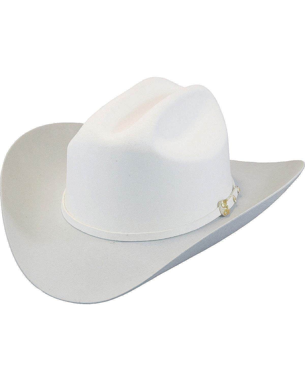 70f2fd8549276 Larry Mahan Men s White The Dos Banderas 6X Cowboy Hat at Amazon Men s  Clothing store