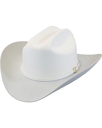 0c9b2d08537b1 Larry Mahan Men s White The Dos Banderas 6X Cowboy Hat at Amazon Men s Clothing  store