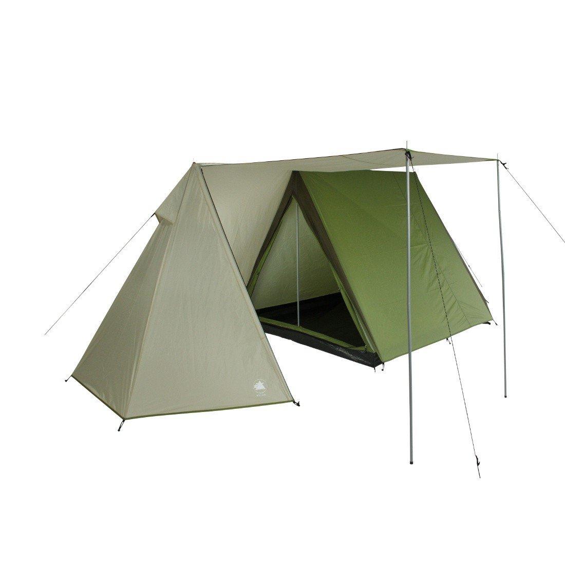 10T Camping-Zelt Mungaroo 3 Hauszelt mit Schlafkabine für 3 Personen Outdoor Familienzelt mit Wohnraum, Firstzelt mit Dauerbelüftung, Sonnendach Aufstellstangen, wasserdicht mit 3000mm Wassersäule