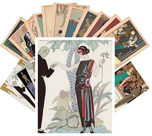 Postcard Set 24 cards George Barbier Ponchoir Art Deco La Vie Parisien vol 1