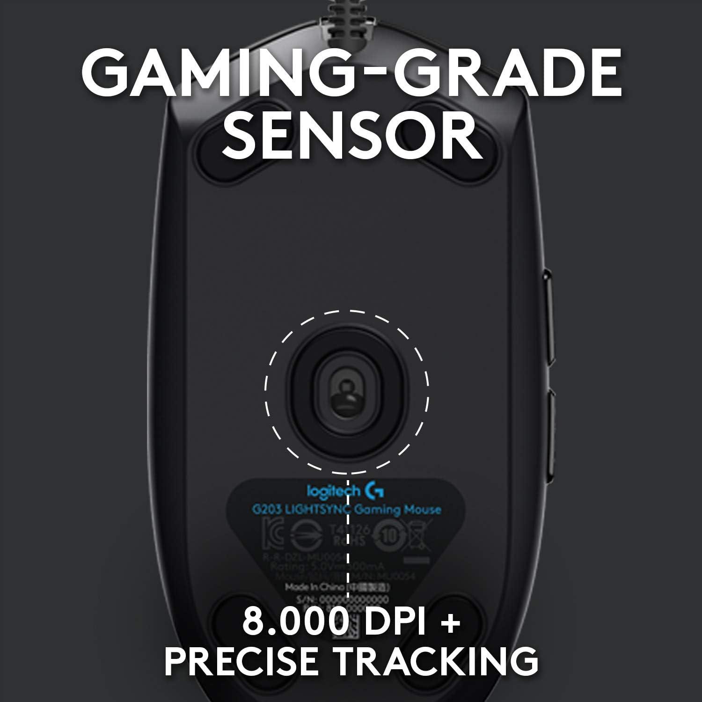 Logitech G102 Lightsync Wired RGB Gaming Mouse sensor