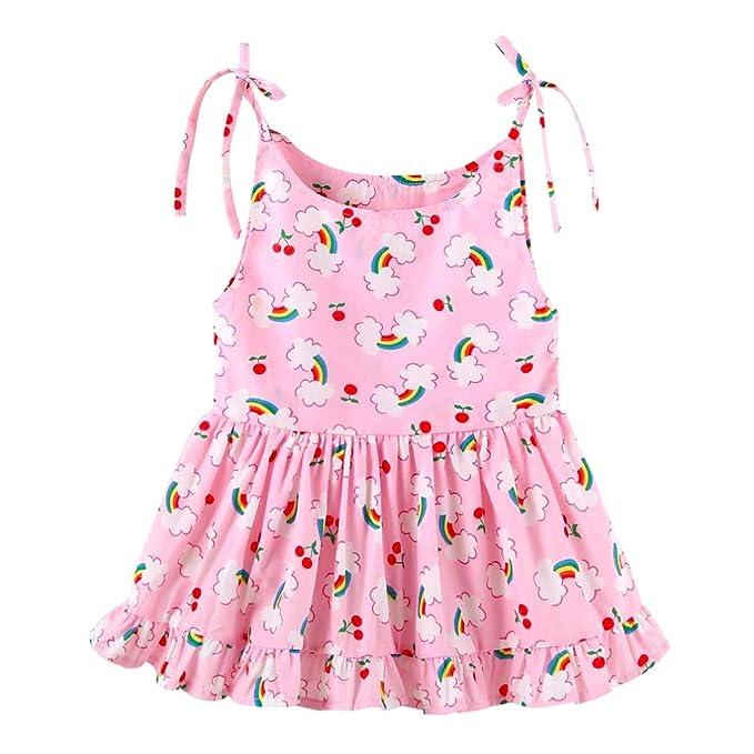 Mini honey Infant Toddle Baby Girls Cotton Dinosaur Print Half Sleeve Skirt Dress Cotton Outfit Clothing