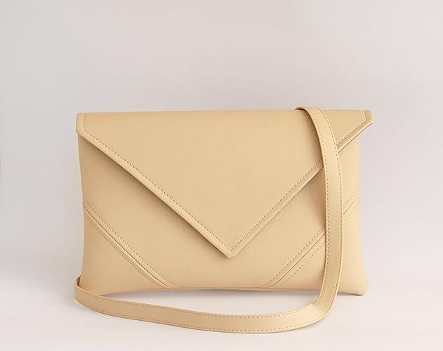 242d8bd0fd85 Amazon.com  Womens Gift For Her Beige Handmade Clutch Purse Vegan Leather  Clutch Bag Ivory Bridesmaid Clutch Wedding Clutch Handbag Small Crossbody  Bag ...