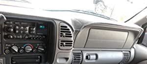 AKMOTOR Dash Cover Mat Custom for 1997-2000 Chevy Chevrolet/GMC C1500 C2500 C3500 K1500 K2500 K3500, 1997-1999 GMC Yukon/Chevy Tahoe, 1999-2000 Cadillac Escalade,Dashboard Cover Pad(Gray) Y57