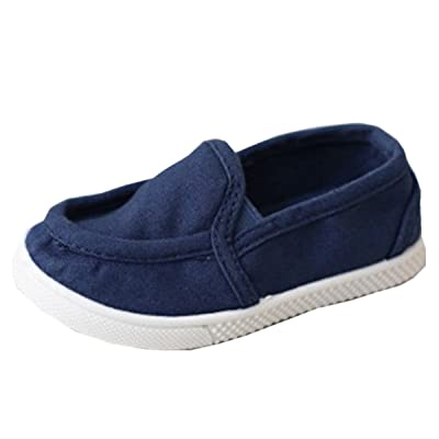 BININBOX Girl Boys Casual Loafer Sneakers Canvas Shoes Toddler Kid Rain Hiking Winter