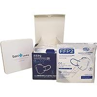 SANIVENDING Mascarilla FFP2 Ultra Protección Homologada CE + Ajustador + Estuche | Marca española | caja 25 uds Blanco