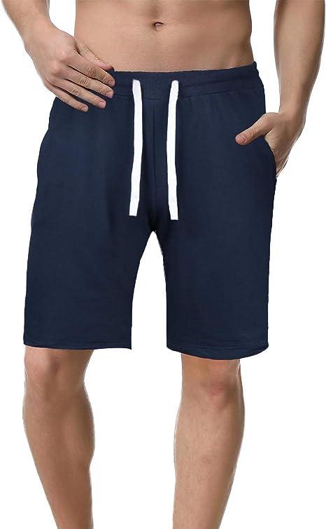 iClosam Short de Sport Homme Coton Casual