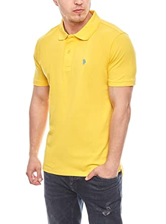 EE.UU. Polo ASSN. Polo de los Hombres chillones Amarillo, tamaño:L ...