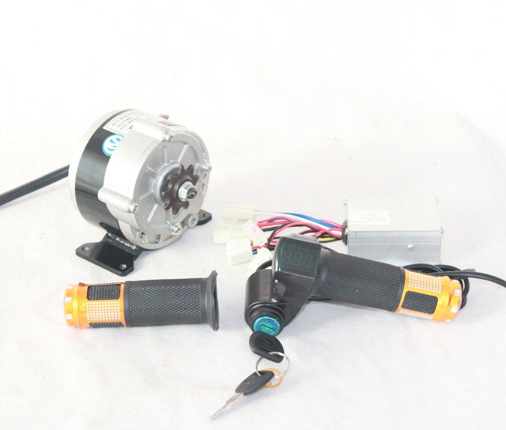 350ワット電気dcギアモーターキットとコントローラとスロットルハンドル付きバッテリー電圧ショーとキースイッチdiy電動車両 [並行輸入品] B078BRMH3636V350W