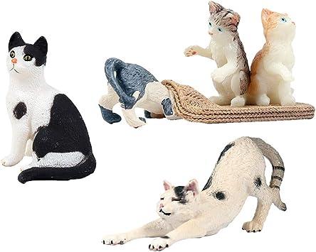 sharprepublic Modelos Gatos Figura Realista de Juguete Divertida para Niñas Niños: Amazon.es: Juguetes y juegos