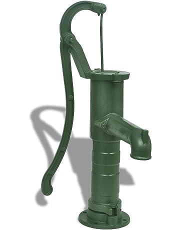 vidaXL Bomba de Agua Manual para Jardín Patio Terraza de Hierro Fundido Verde