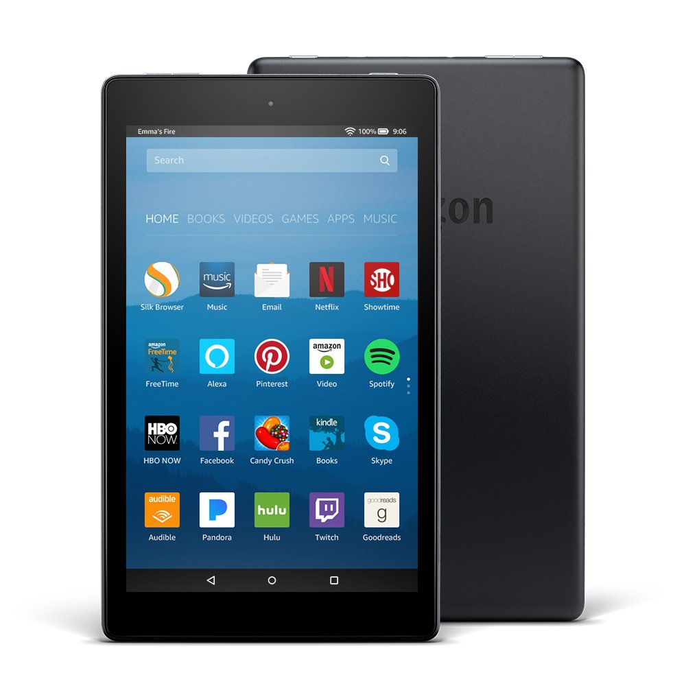 Certified Refurbished Fire HD 8 Tablet with Alexa, 8'' HD Display, 32 GB, Black - with Special Offers