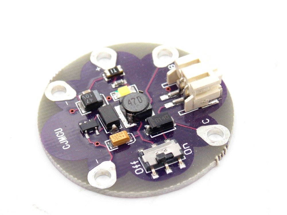 LiPower Lithium Battery boost Power step up Battery Module 5V output for LilyPad
