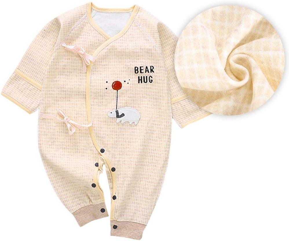 Pink52 Tutina a maniche lunghe per neonato Simpatica tutina per cartoni animati per Toddler Tuta in cotone morbido per Neonate
