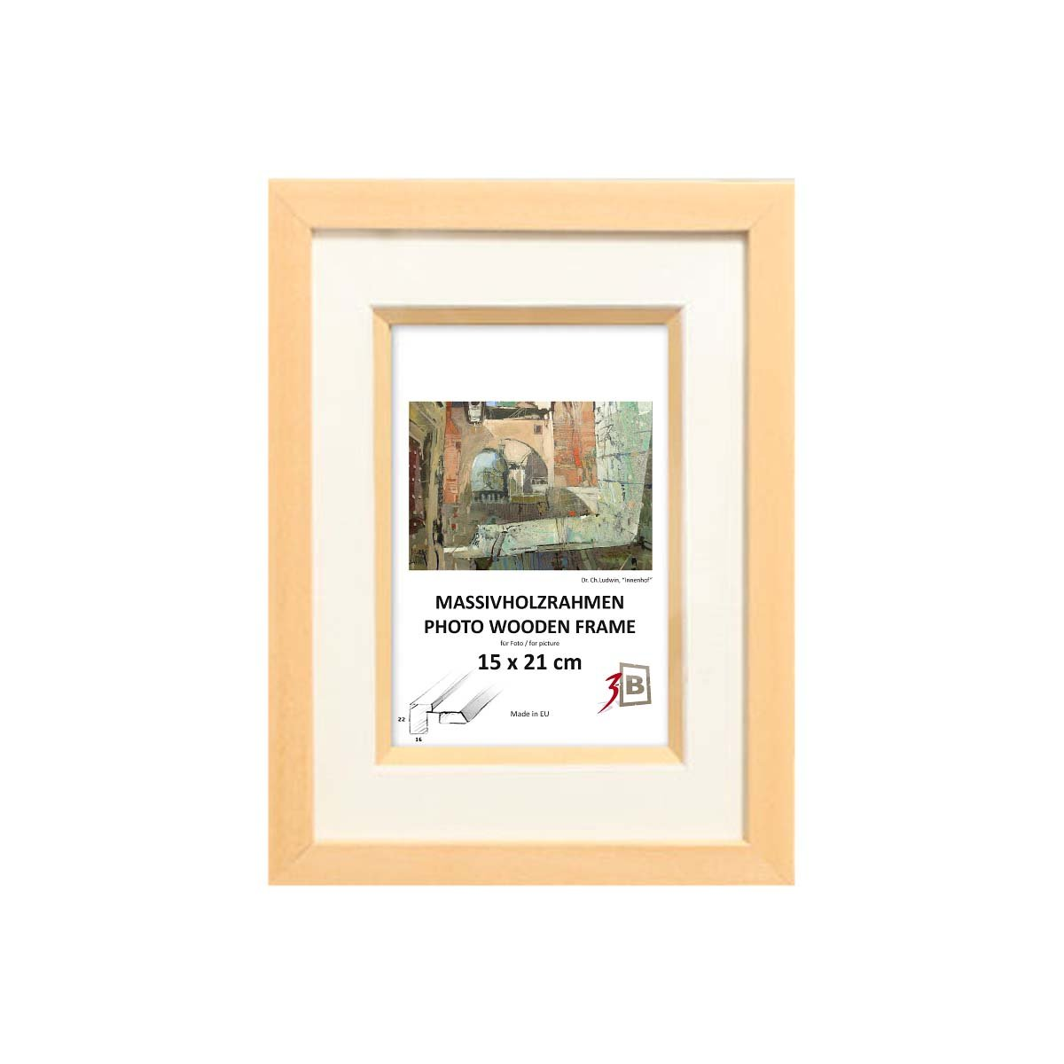 MALTA PLUS 24x30 cm - Schöner Bilderrahmen mit Passepartout für Foto ...