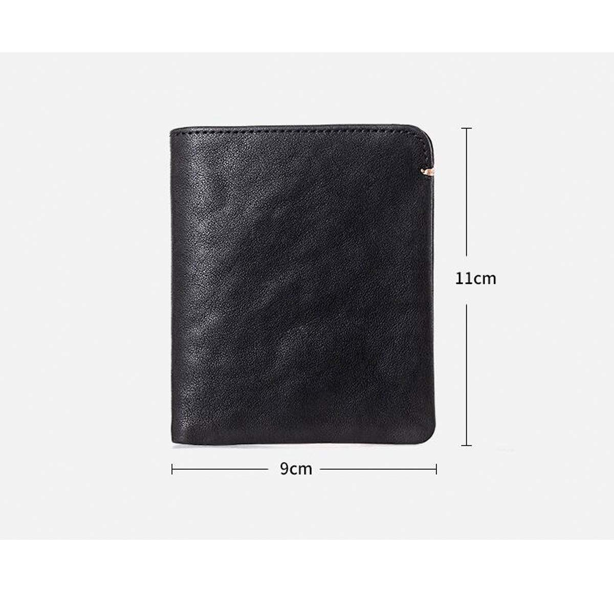 Kalmar RFID Travel Wallet Stealth Mode Mens Leather Bifold Wallet Clutch Mens Gift Box Extra Capacity Travel Wallet Currency Storage Box Black Color : Black Mens RFID Wallet