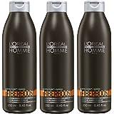 Loreal LP Homme Fiberboost Shampoo 3 x 250 ml + Guarana bei Haarausfall