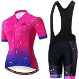 Uriah Women's Cycling Jersey Bib Shorts Black Sets Short Sleeve Reflective