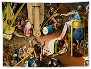 The Garden of Earthly Delights - Bird King in Hell Detail Apron Wall Tapestry Apestry Album 3D Wall Hanging Art Home Decor Wave Tapestries