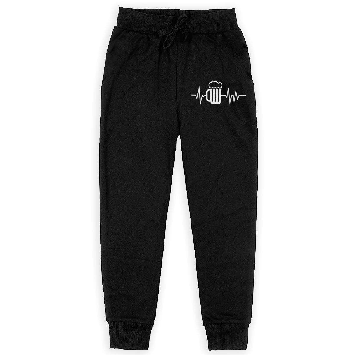 Beer Heartbeat Soft//Cozy Sweatpants Teenager Jogger Pants for Teen Boy