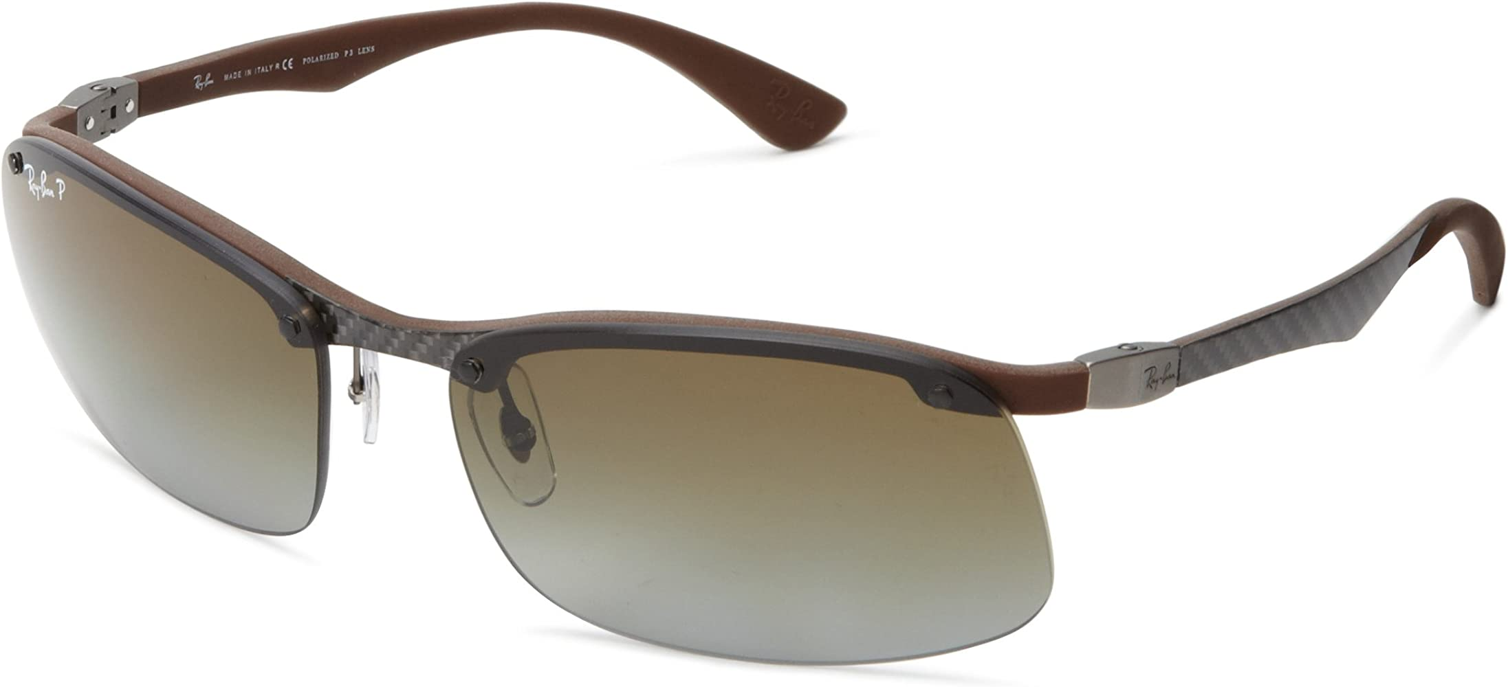 RAY BAN Gafas de sol RB 8314 128/T5 Oscuro Carbon Rubber Brown 61MM: Amazon.es: Ropa y accesorios