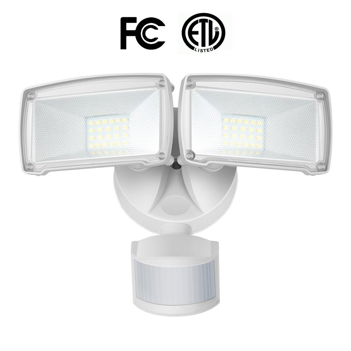22w dual head motion sensor led outdoor security light3 lighting 22w dual head motion sensor led outdoor security light3 lighting modesadjustable head5000k daylight 1600lm100w halogen equiv illumination for yard aloadofball Images