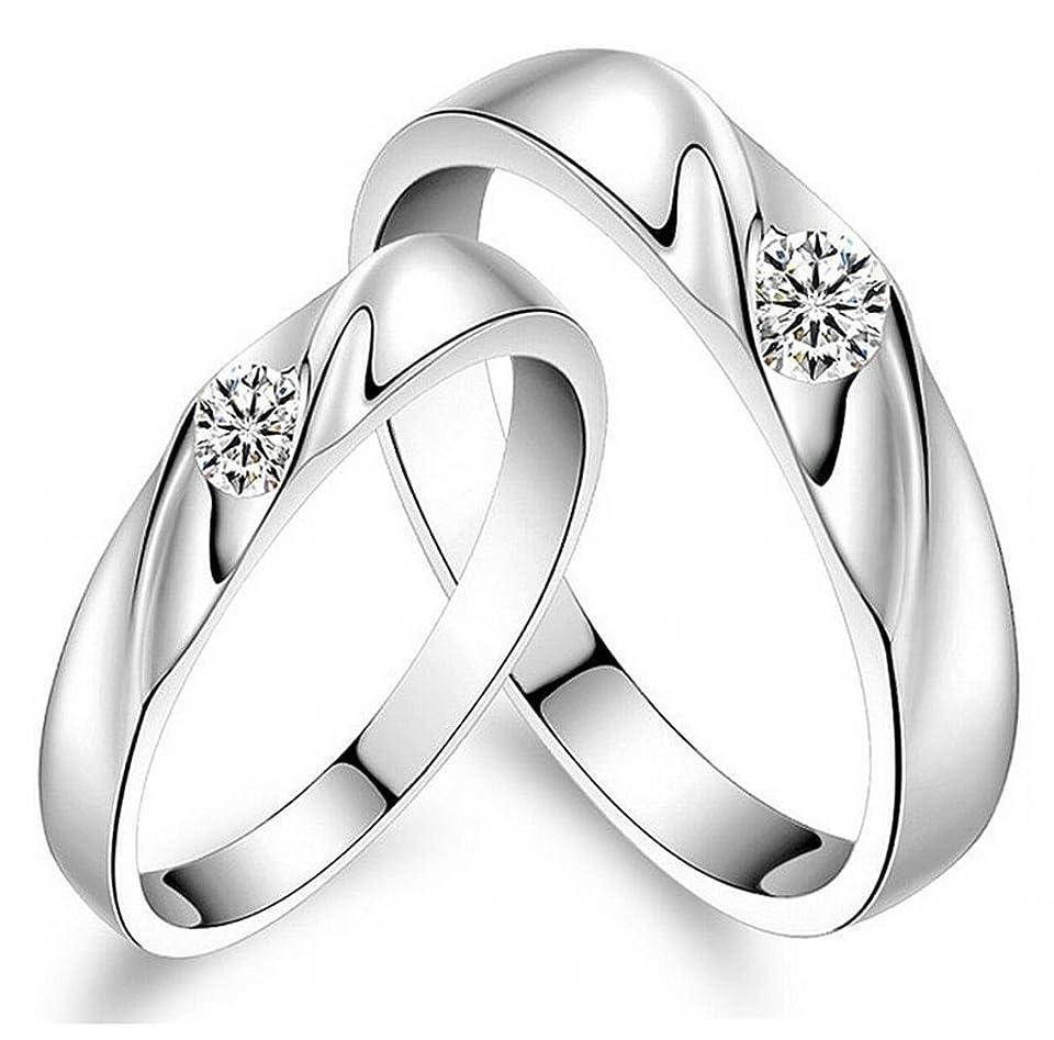 運ぶエチケット勢いHonel リング 指輪 シンプル デザイン ソリティア 婚約 結婚式 アクセサリー