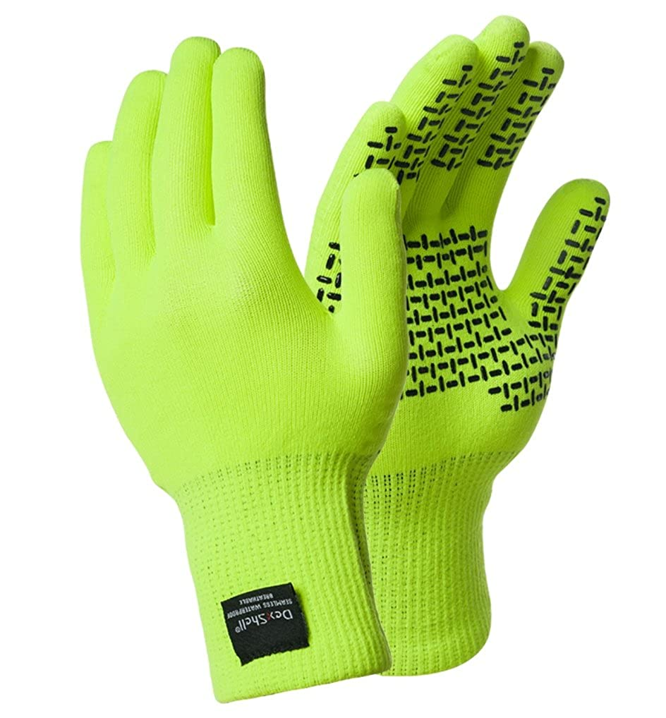Dexshell Coolmax Handschuhe Touchfit Wasserdichte Handschuhe (L, Viz gelb)