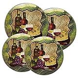 RANGE KLEEN 5091 Wine Enthusiast Design Round Burner Kovers, Set of 4
