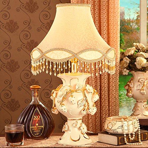 YFF@ILU Luxuriöse dekorative Keramik leuchte Schlafzimmer Nachttischlampe retro Hochzeit Garten das Wohnzimmer Tischlampe Hochzeit Geschenke